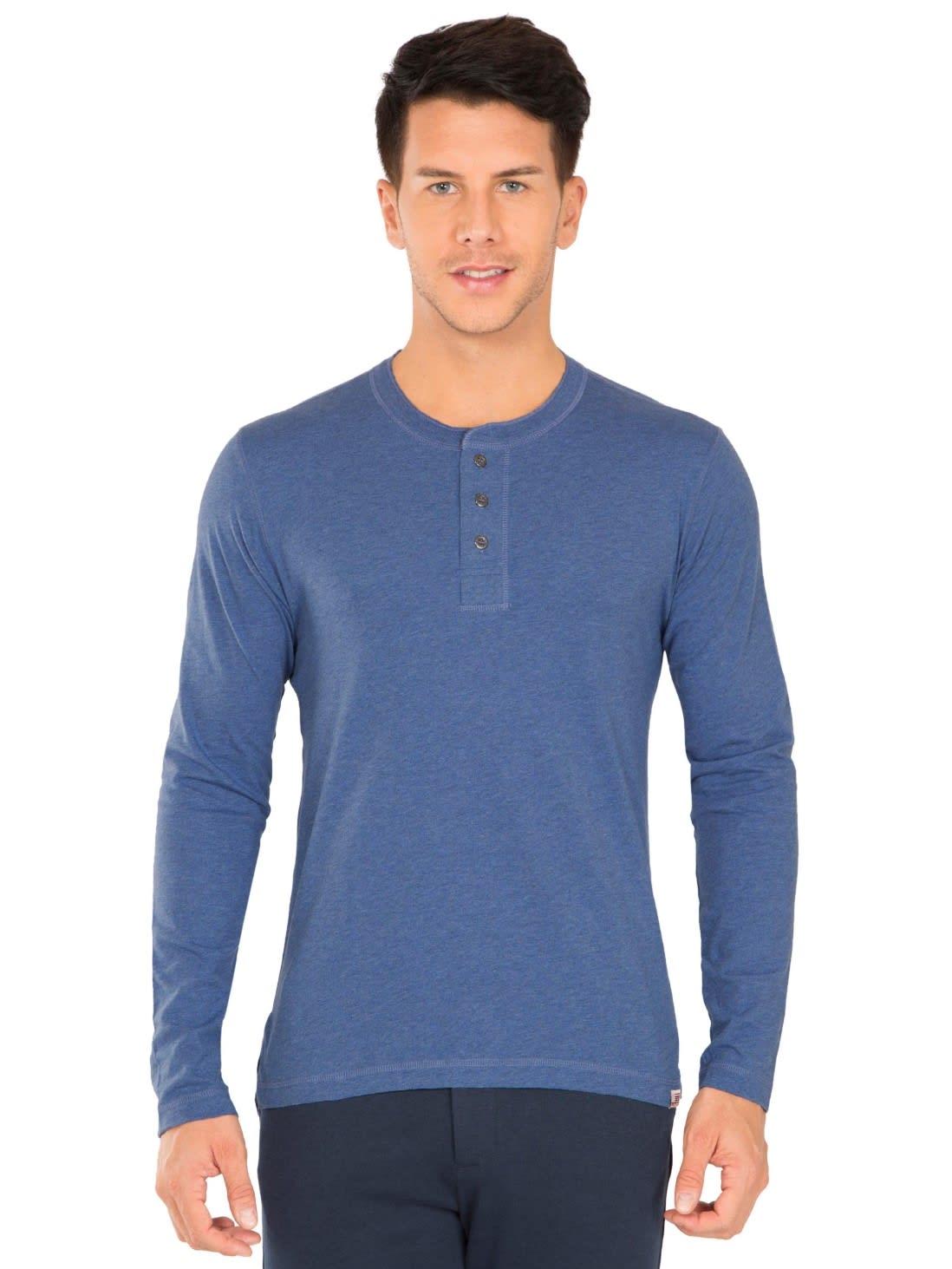 Light Denim Melange Long Sleeve T-Shirt