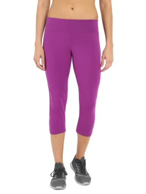 Purple Glory & Light Grey Melange Knit Sports Capri