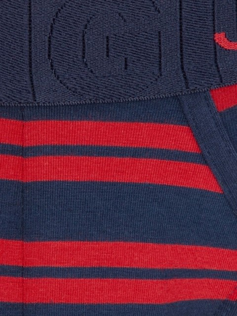 Red & Navy stripes Yarn dyed Brief