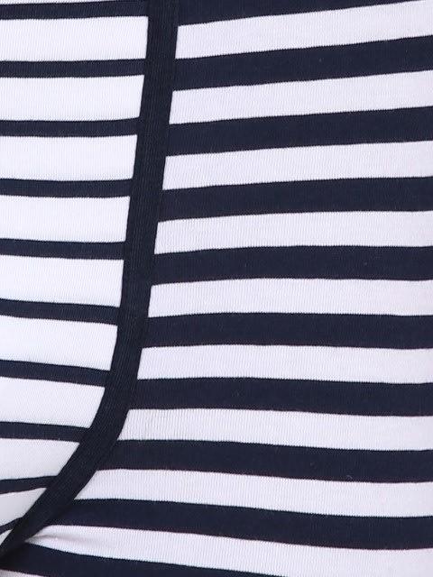 White & Navy stripes Yarn dyed Trunk