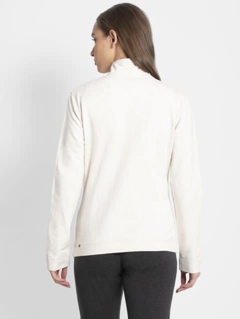 Cream Melange Fastening Jacket