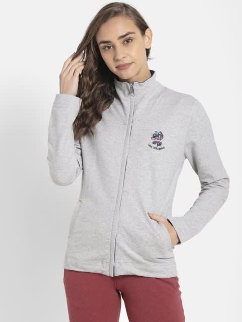 Light Grey Melange Fastening Jacket