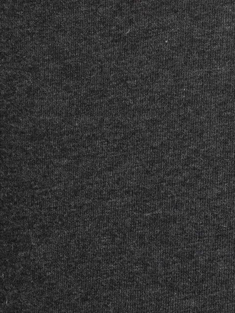 Black Melange Track Pant