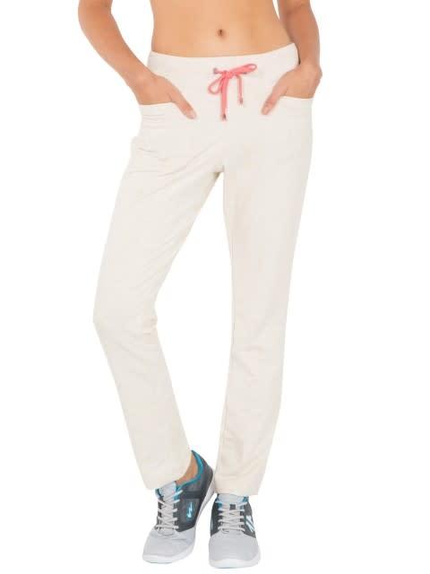 Cream Melange Track Pant