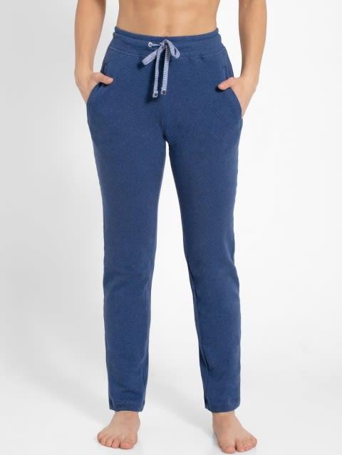 Denim Blue Melange Track Pant