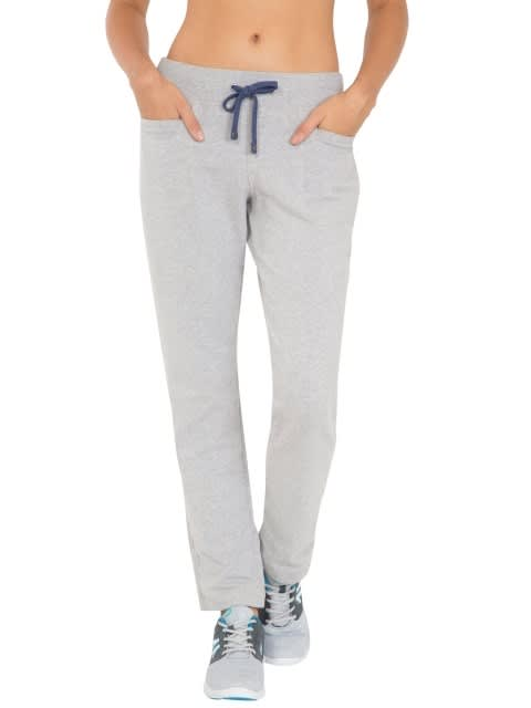 Light Grey Melange Track Pant