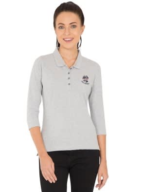 Light Grey Melange Polo Shirt