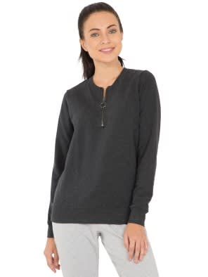 Black Melange Sweatshirt