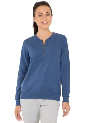 Denim Blue Melange Sweatshirt