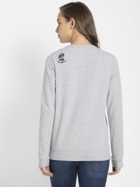 Light Grey Melange Sweatshirt