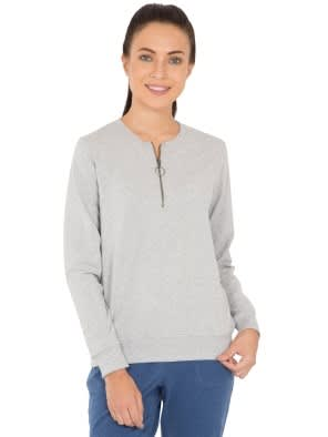 Light Grey Melange Sweatshirt