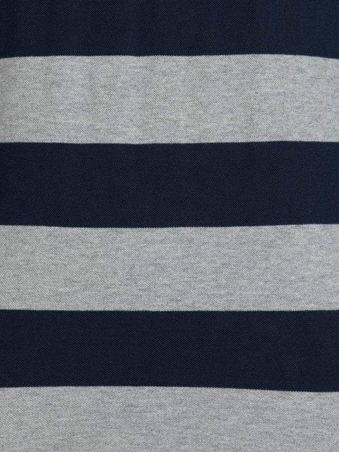 Grey Melange & Navy Polo Shirt