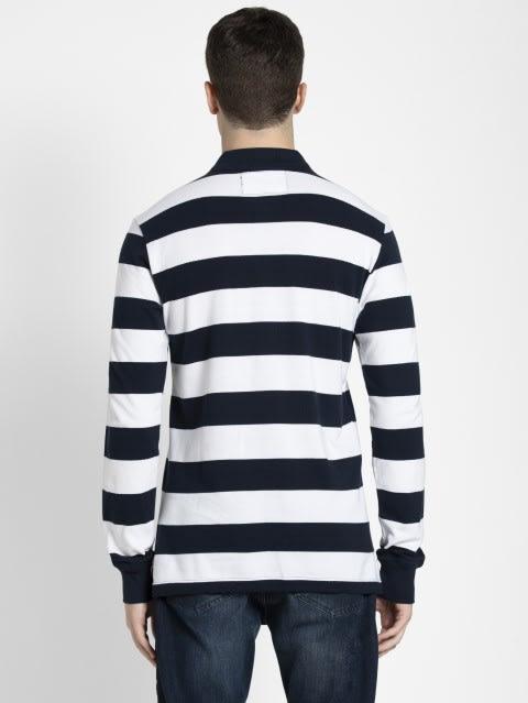 Navy & White Polo Shirt