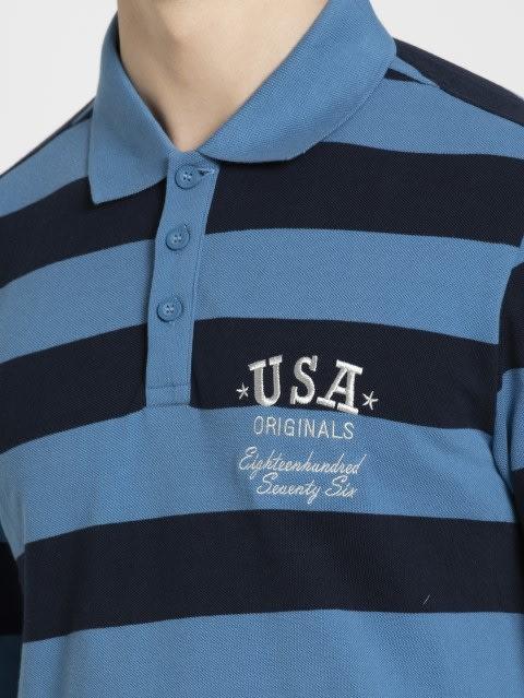 Parisian Blue & Navy Polo Shirt