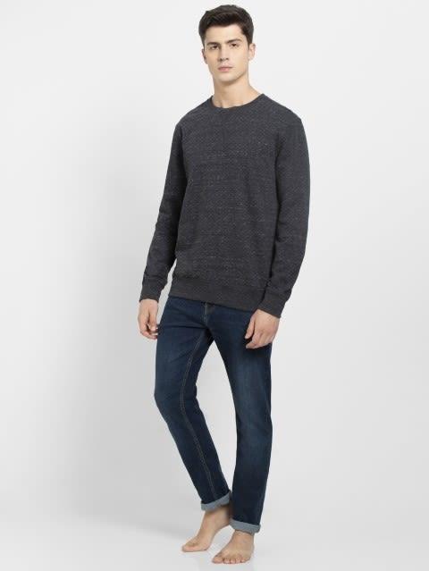 Black Snow Melange Sweatshirt