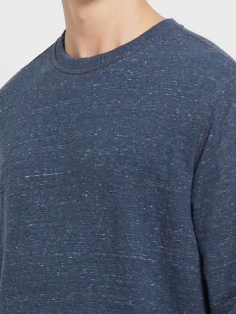 Blue Snow Melange Sweatshirt