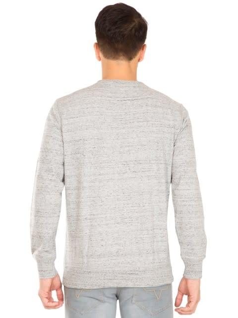 Grey Snow Melange Sweatshirt