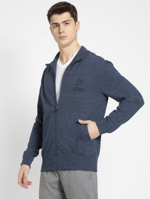 Blue Snow Melange Jacket