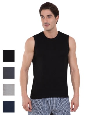 Fashion Color Gym Vest Combo - Pack of 4