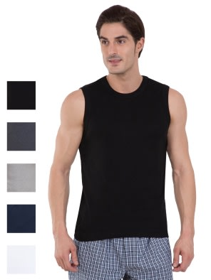 Multi Color Gym Vest Combo - Pack of 5