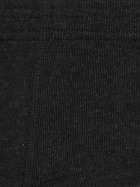 Black Melange Contour Brief Pack of 2