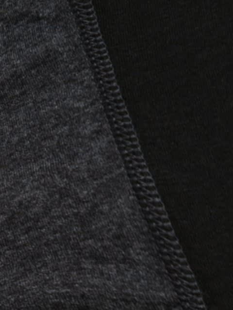 Black & Black Melange Fusion Brief Pack of 2