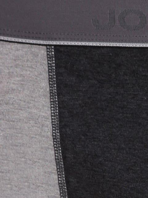 Grey Melange & Black Melange Fusion Brief Pack of 2