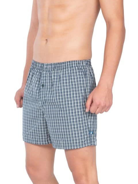 Assorted Checks Boxer Shorts Pack of 2