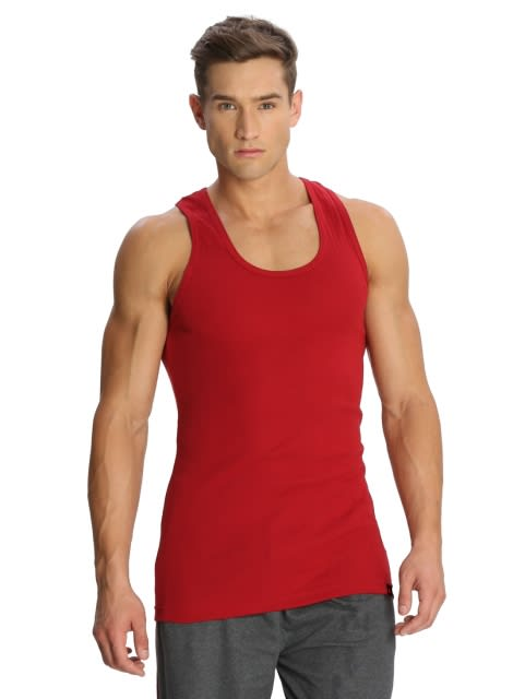 Basic Color Racer Back Shirt Combo - Pack of 5