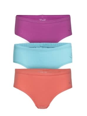 Solid Assorted Girls Panty Pack of 3