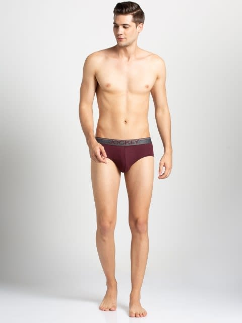 Mauve Wine Square Cut Brief