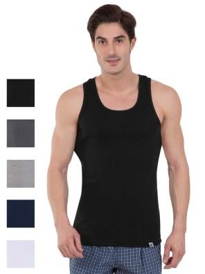 Multi Color Racer Back Shirt Combo - Pack of 5