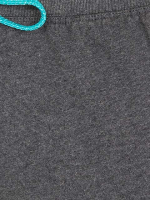 Charcoal Melange & Teal Straight fit Shorts