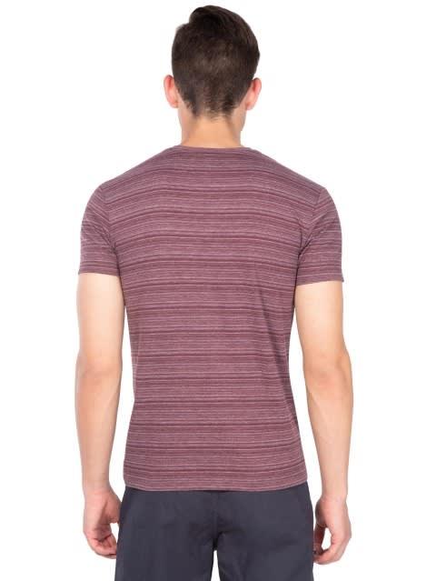 Mauve Wine V-neck T-Shirt