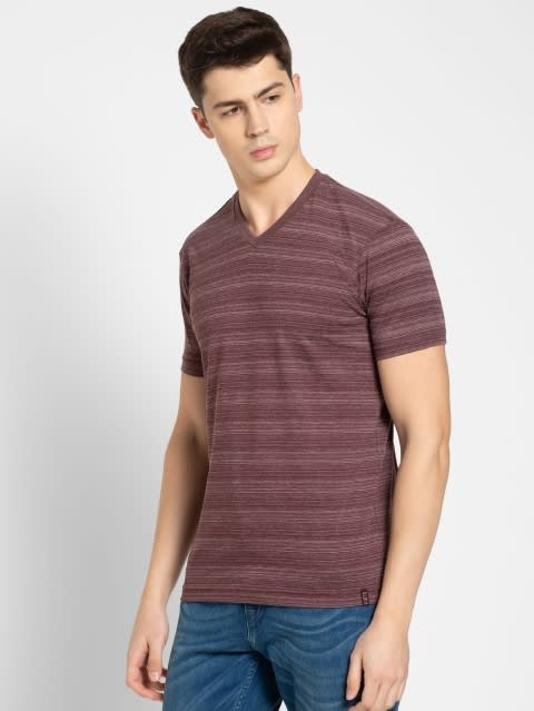 Mauve Wine V-neck T-Shirt