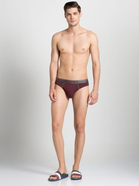 Mauve Wine Modern Brief
