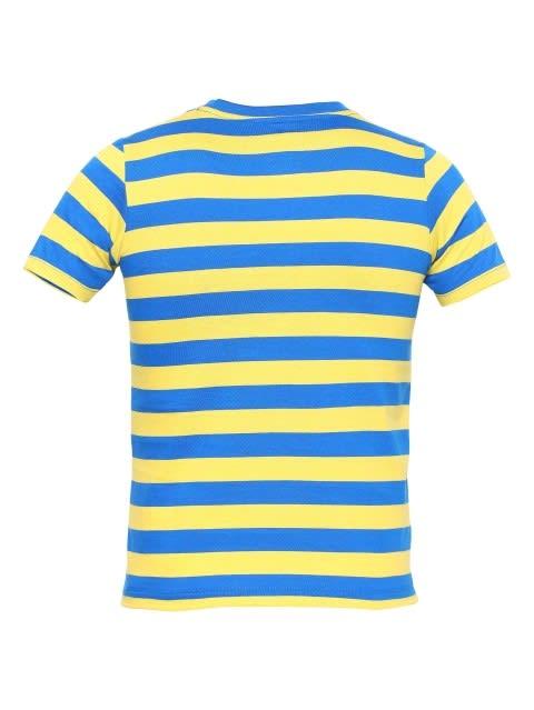Neon Blue & Maize Boys Striped T-Shirt