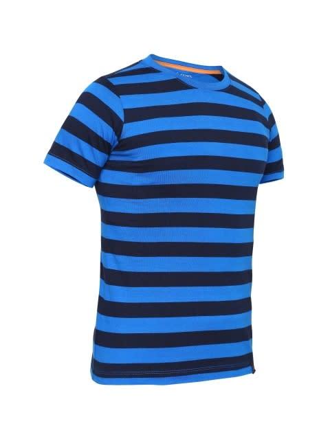 Neon Blue & Navy Boys Striped T-Shirt