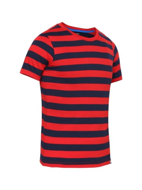 Wordly Red & Navy Boys Striped T-Shirt