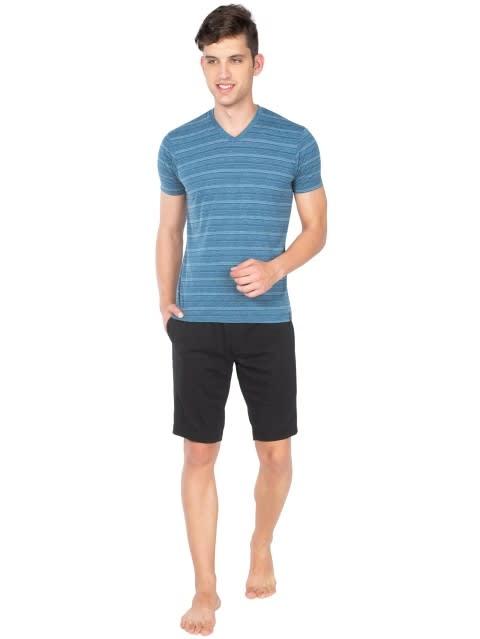 Black Straight fit shorts