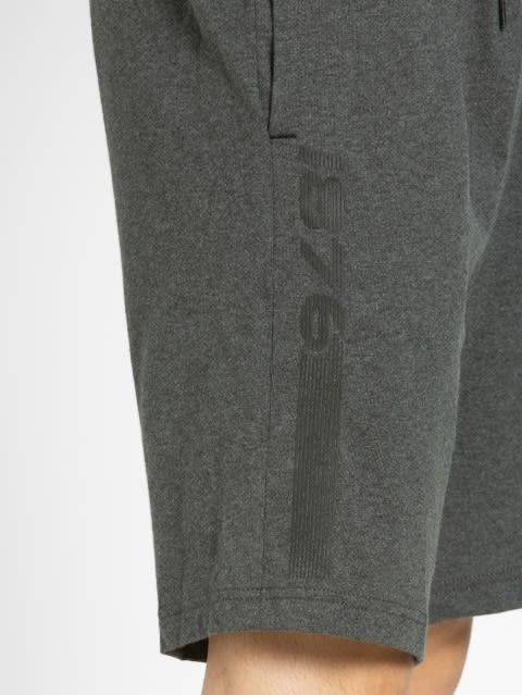 Charcoal Melange Straight fit shorts