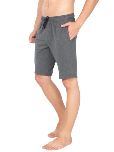 Charcoal Melange Straight fit shorts
