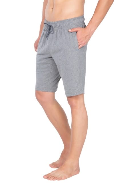Mid Grey Melange Straight fit shorts