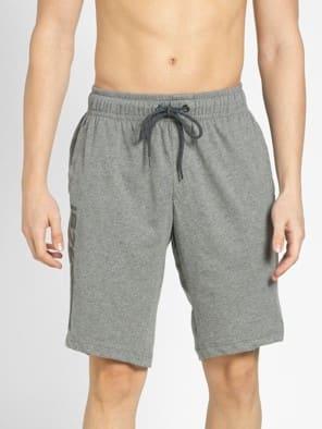 Mid Grey Melange Straight fit shorts