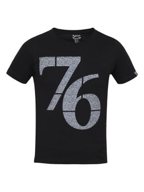 Black Print 24 Boys Printed T-Shirt