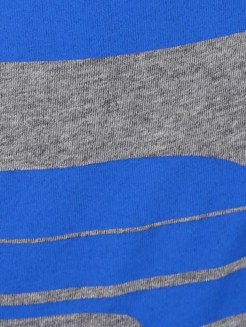Grey Melange & Neon Blue Print26 Boys Raglan Printed T-Shirt