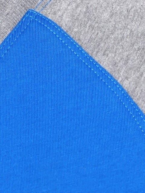 Neon Blue & Grey Melange Print26 Boys Raglan Printed T-Shirt