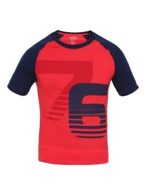 Team Red & Navy Print26 Boys Raglan Printed T-Shirt