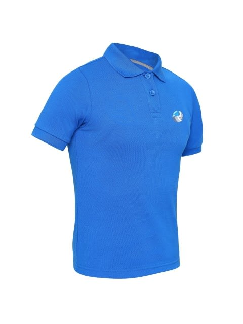 Neon Blue Boys Polo T-Shirt