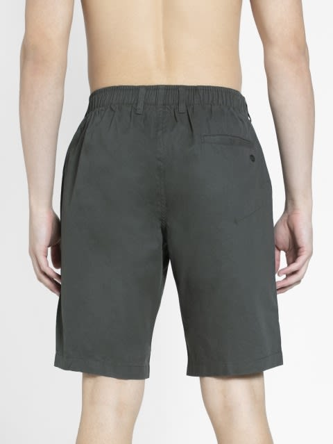Forest Green Straight fit Shorts